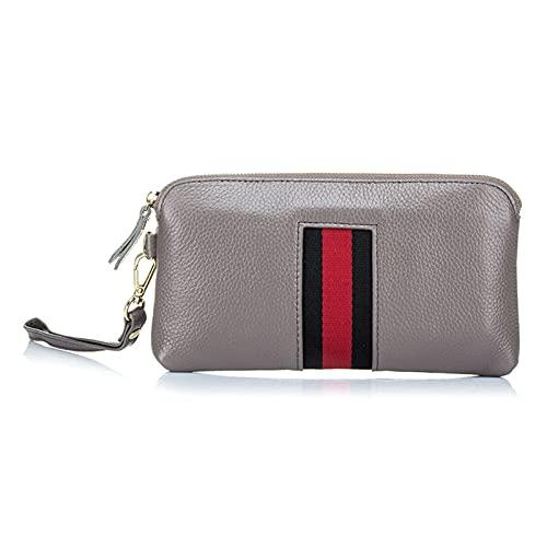 LLPing La mejor billetera de cremallera de la moda de la moda de las mujeres de la moda de los mejores cuero con la correa de Wraist Day Embragues de los embragues de las señales de las señoras bolsas