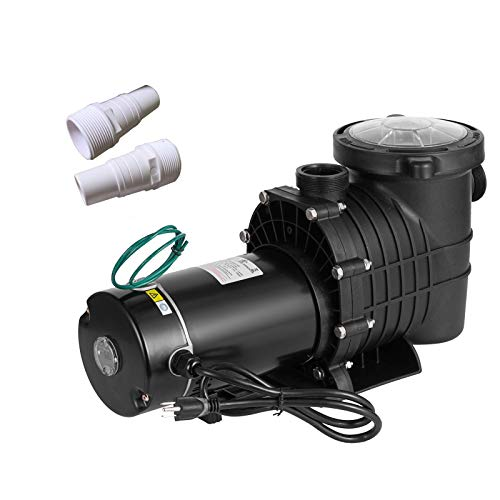 SmarketBuy 1.5HP Swimming Pool Pumps, Dual Voltage 115/230V High Flow Pool Pump, in/Above Ground Pool Pumps Large Strainer Basket, 2Pcs 1-1/2NPT Connectors