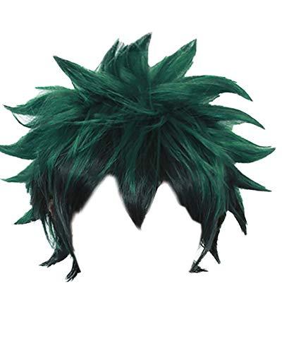 miccostumes Men's Deku Izuku Midoriya Cosplay Wig Green (Green)