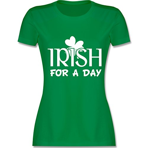 St Patricks Day FOLLETTO QUADRIFOGLIO T-shirt da Donna Costume donne shirt IRISH IRLANDA