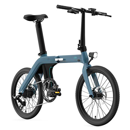 FIIDO D11 Folding Electric Bikes for Adults Lightweight Aluminum Alloy Frame Electric Bike Ebike Mountain Bicycle with 3 Riding Mode 7-Speed Transmission, 36V 11.6Ah 30km/h