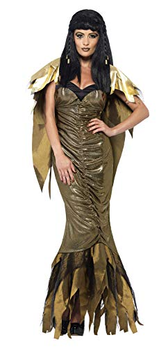 Disfraz de Halloween Smiffys de Cleopatra Oscura, Color Dorado