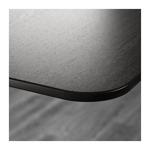 IKEA BEKANT – escritorio, marrón, negro: Amazon.es: Oficina y ...