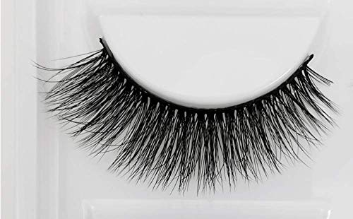 yunfeng Lashes Falsche Wimpern Natürlichen Look Handgemachte Crisscross 3D Wiederverwendbar 1 Paar Künstliche Wimpern Dicken Augen Wimpern(10-16mm) wimpernverlängerung