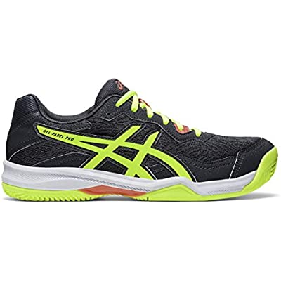Asics Gel-Padel Pro 4, Sneaker Hombre, Carrier Grey/Safety Yellow, 43.5 EU