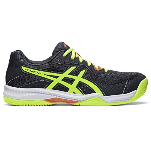 Asics Gel-Padel Pro 4, Sneaker Hombre, Carrier Grey/Safety Yellow, 44 EU