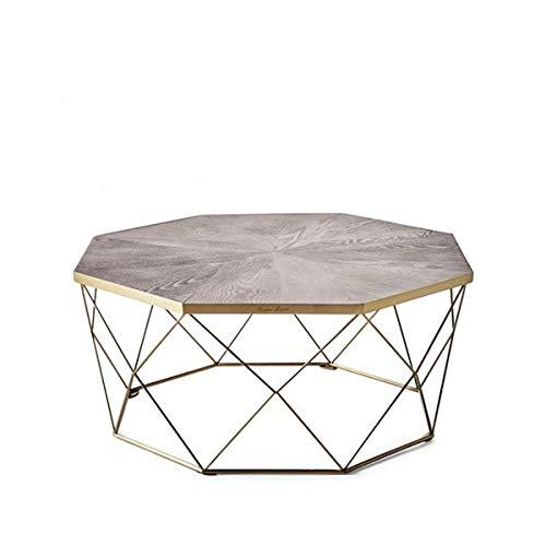 Riviera Maison - Couchtisch - Diplomat Coffee Table - Eichenholz Edelstahl - BxHxL: 90 x 40 x 90 cm