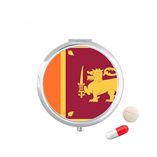DIYthinker Sri Lanka Nationale Vlag Azië Land Reizen Pocket Pill case Medicine Drug Storage Box Dispenser Spiegel Gift