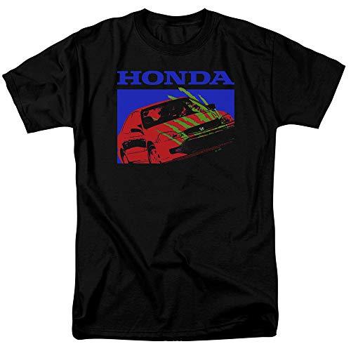 Honda Civic Bold Unisex Adult T Shirt for Men and Women, X-Large Black