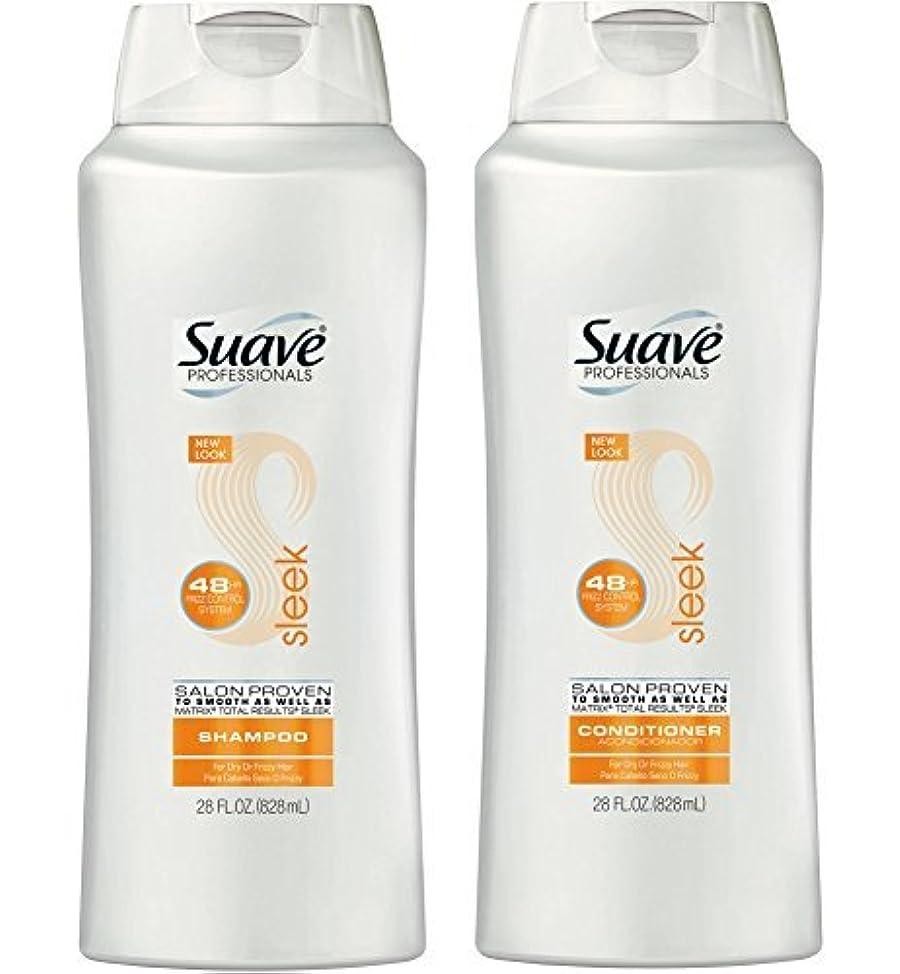 Suave Professionals Sleek Shampoo & Conditioner, 28 Oz. Set