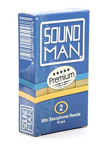 10 Ance per Sassofono Contralto Soundman® Alto Ancia Saxo Sax Saxophone Reeds (2,0)