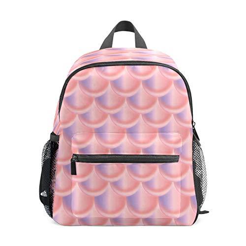 Mochila infantil para niños de 1 a 6 años de edad, mochila perfecta para niños de 1 a 6 años de edad, mochila perfecta para niños pequeños a jardín de infancia Duotone sirena escamas peces rosa