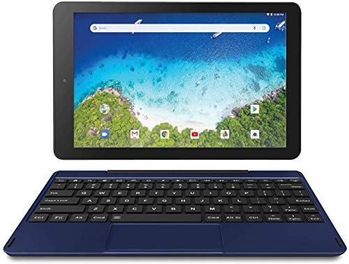 "RCA Viking Pro 10"" 2-in-1 Tablet 32GB Quad Core Blue Laptop Computer with Touchscreen and Detachable Keyboard Google Android 6.0"