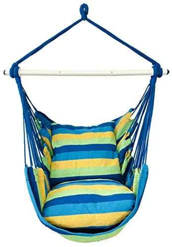 Highwild Hanging Rope Hammock Chair Swing Seat for Any Indoor or Outdoor Spaces 500 lbs Weight product image