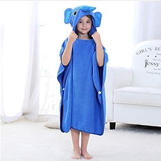Print Yoga Mat Children'S Bath Towel Hooded Cartoon Blue Coral Velvet Absorbent 瑜伽垫