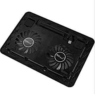 Laptop Cooler, Ultra Slim Laptop Cooling Pad Lightweight Chill Portable Notebook Mat with 2 Heavy Duty Quiet Fans USB Powe...