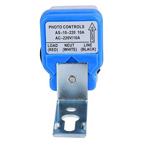 Socobeta Interruptor de control de luz al aire libre, características estables Interruptor de la lámpara de calle Conveniente para usar para la calle (220V, rosa)