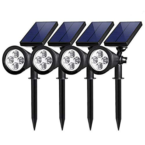 Lámpara de césped MLXLX luz de enchufe de tierra 7LED solar 4LED luz de enchufe de tierra solar luz de jardín luz de jardín