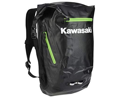 Kawasaki - Mochila impermeable, color negro