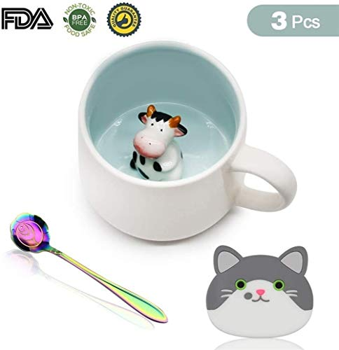 kopje QUANFANG Handgemaakte schattige panda keramische koffie grappige thee 3D schattige dierlijke koffie als verrassing geschenk creatieve verjaardag cadeau 4.27