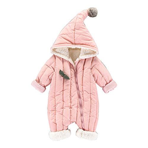 MissChild Combinaison de Neige Bébé - Manteau à Capuche Garçon Fill - Barboteuse Epaisse - Jumpsuit Manches Longues