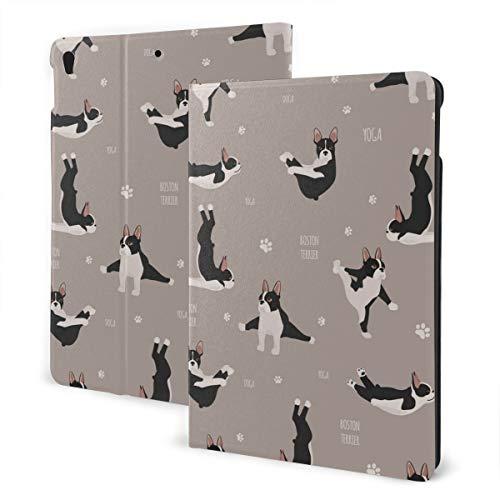 Estuche iPad Personalizado Yoga Perros Poses y Ejercicios Bulldog francés Soporte multiángulo Ángulo automático magnético Despertar Estuche Protector iPad para iPad Air 3 & Pro 10.5 Inch