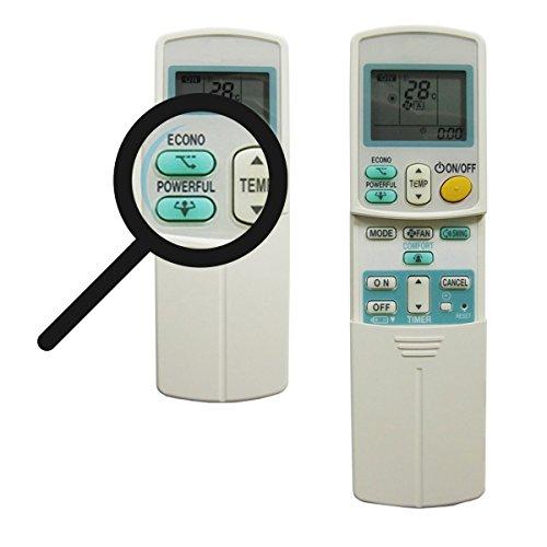 Mando a distancia de repuesto ARC 433A87 – ARC433A22 – ARC 433A88 para aparatos de aire acondicionado (climatizadores) Daikin compatible con serie ARC433A y ARC433B