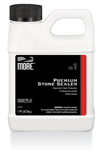 MORE Premium Stone Sealer - Water Based Formula - Protection for Natural Stone and Tile Surfaces [Pint / 16 Oz.]