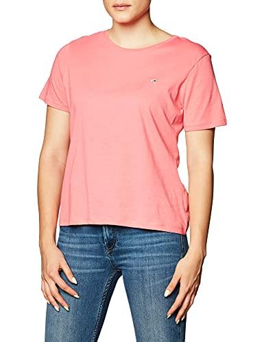Tommy Jeans Damen TJW Soft Jersey Tee T-Shirt, Botanisches Pink, M