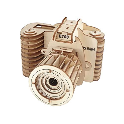 Creative 3D Puzzles Aus Holz Kamera Stich DIY Puzzle Aus Holz Bastelset Sichere Montage Constructor Kit Denkaufgabe Spiele Für Kinder Jugendliche Und Erwachsene (1set)