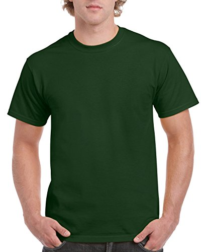 Gildan Men's G2000 Ultra Cotton Adult T-shirt, Forest Green, Large
