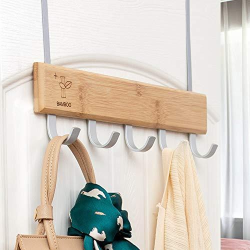 Tür Hinter Holz Multifunktionshaken Kleiderbügel Türregal Frei Stanzen Kleiderhaken Reihe Haken Kreative Nagel-Free-Haken Modernen Stil
