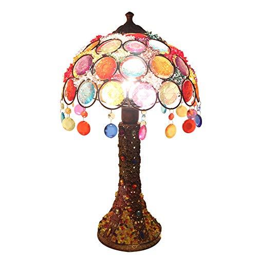 Yilingqi-1 Tafellamp in de Europese stijl Nepalese handgemaakte glasparels tafellamp Exotische slaapkamer bedlampje creatieve bruiloftskamer romantische lamp