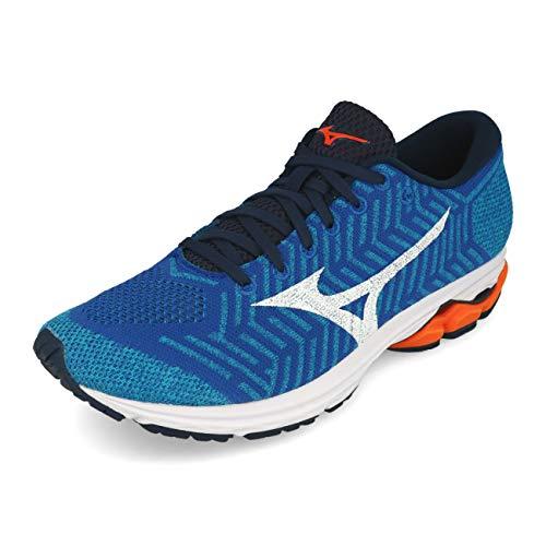 Mizuno Men Waveknit R2 Neutral Running Shoe Running Shoes Blue - Black 8