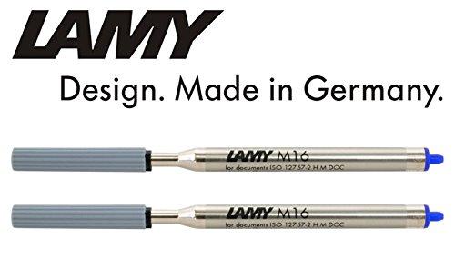 Lamy M16 Kugelschreiber-Großraummine, Strichbreite: F (2er Pack, Blau)