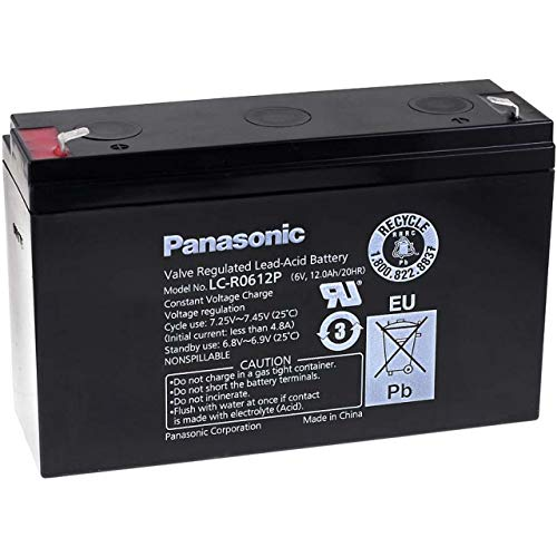 Panasonic Bleiakku LC-R0612P, 6V, Lead-Acid
