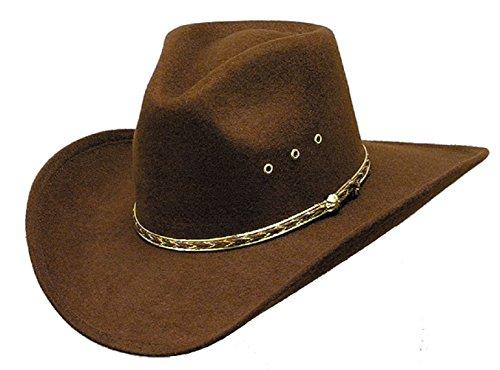 WESTERN EXPRESS Child Pinch Front Faux Felt Cowboy Hat Brown