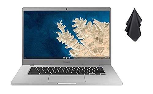 "2021 New Samsung Chromebook 4 15.6"" FHD Non-Touch Laptop for Business Student, Intel Celeron N4000, 4GB RAM, 32GB Storage, Webcam, WiFi, Chrome OS (Google Classroom Ready) + Oydisen Cloth"