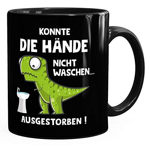 MoonWorks® Taza de café con diseño de dinosaurio y texto en alemán...