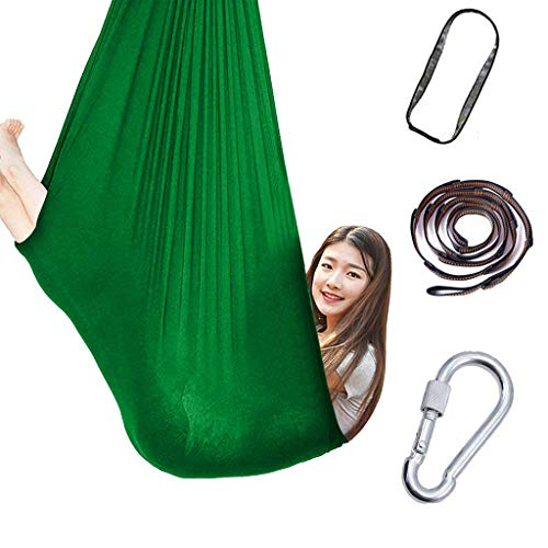 Camping Hammock - USA Brand Single Parachute Hammock (2 Tree Straps 10 Loops/20 ft Included) Lightweight Nylon Portable Adult Kids Best Accessories Gear