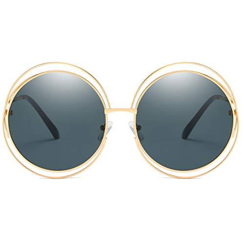 screw detail metal sunglasses - 2