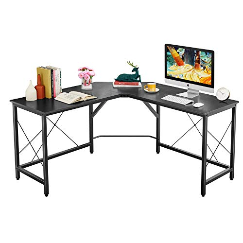 Mr IRONSTONE L-Shaped Desk 59' Computer Corner Desk, Home Gaming Desk, Office Writing Workstation, Space-Saving, Easy to Assemble