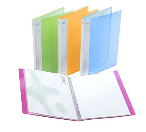Rexel Ice 2102040 Portalistino A4 a 40 Tasche, Copertina Semi-Rigida, Colori assortiti, 1 pezzo