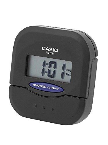 CASIO 10204 PQ-30B-1DF - Reloj Despertador Digital Negro