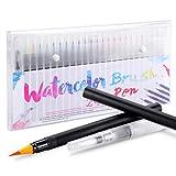 24+1 Pinselstifte Handlettering Stifte Set, Manga Zeichnen Stifte, Kalligraphie Set, Aquarellpinsel Lettering Stifte Set für Bullet Journal, Kalligraphie, Geschenk