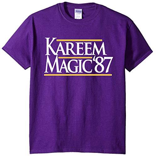 Purple Los Angeles Kareem Magic 87 T-Shirt Adult