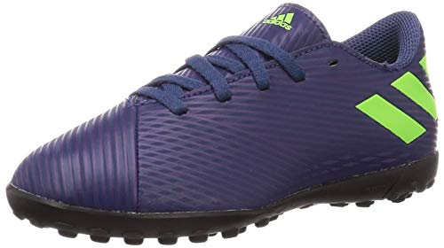 Adidas Nemeziz Messi 19.4 TF J, Zapatillas Deportivas Fútbol Unisex Infantil, Morado (Tech Indigo/Signal Green/Glory Purple), 29 EU