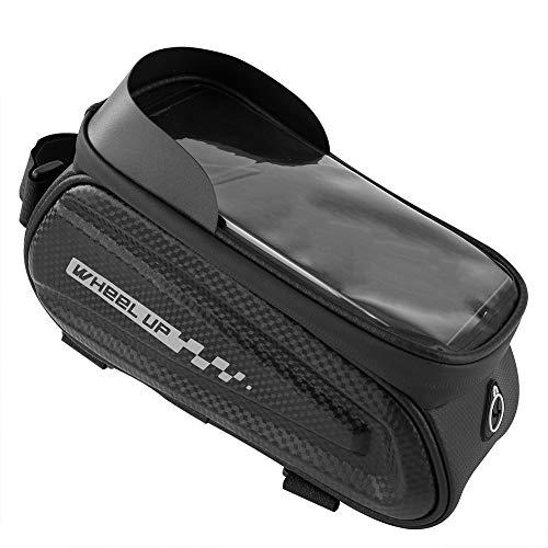Matefielduk Fahrrad-Lenkertasche, Fahrradtasche, Fahrradtasche, wasserdichte Handytasche, Mountainbike, Touchscreen-Design, TPU-Kunststoff