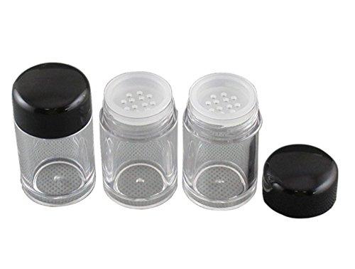 Haifly 8 Stk Reise Klein Kosmetische Behälter Leer Puderdose mit sieb Puder Make up Lose Container...