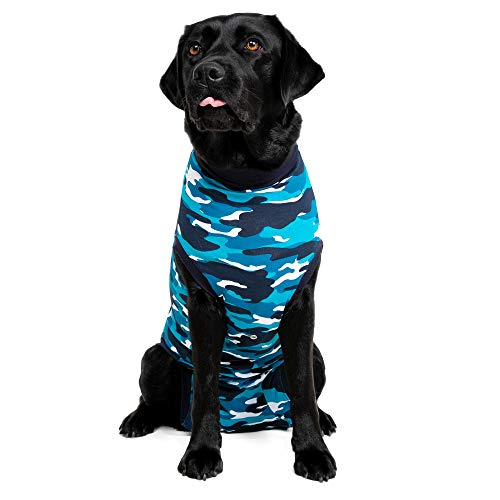 Suitical Recovery Suit Dog, Medium Plus, Blue Camouflage